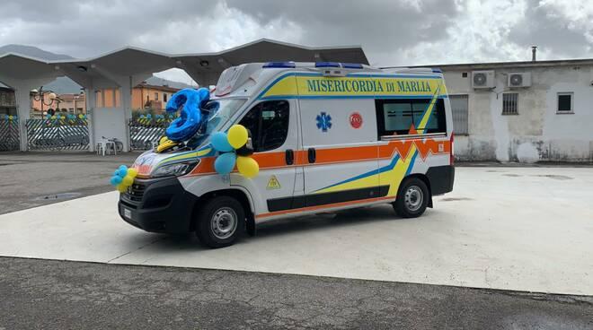nuova ambulanza Misericordia di Marlia