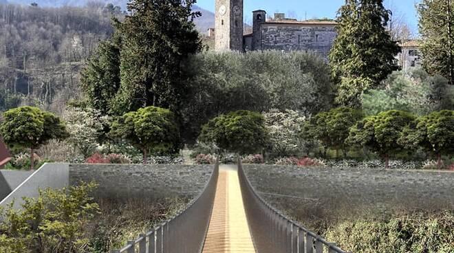 Nuovo ponte sulla Turrite Gallicano rendering