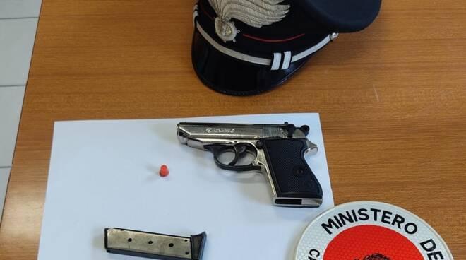 pistola in treno