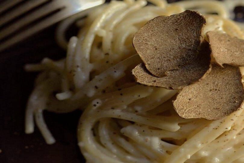 spaghetti farro tartufo