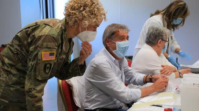 Alla base militare di Camp Derby vaccinato il personale civile italiano