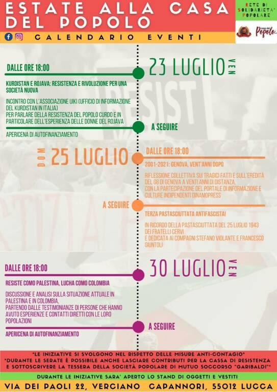 calendario iniziative alla casa del popolo