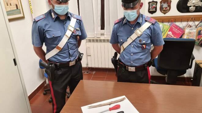 carabinieri furto su auto a Scarlino