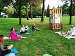 corso di autodifesa nel parco Aldo Moro di Altopascio