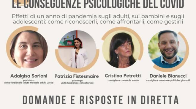 Covid conseguenze psicologiche Facebook incontro Comune di Lucca