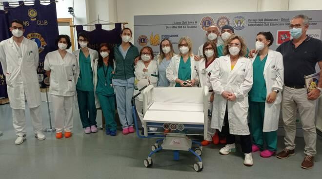 culle neonati donate a ospedale Nottola