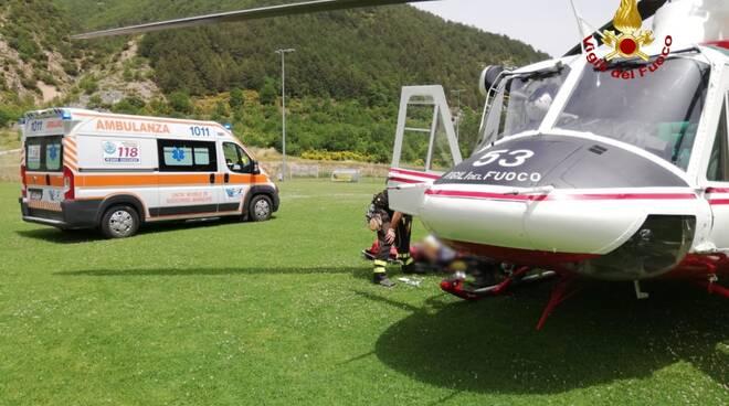 elicottero drago e soccorso alpino