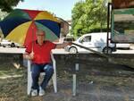 Enzo Oliveri panchina piazza dei partigiani Santa Croce