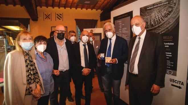 Giani in visita al museo della zecca di Lucca