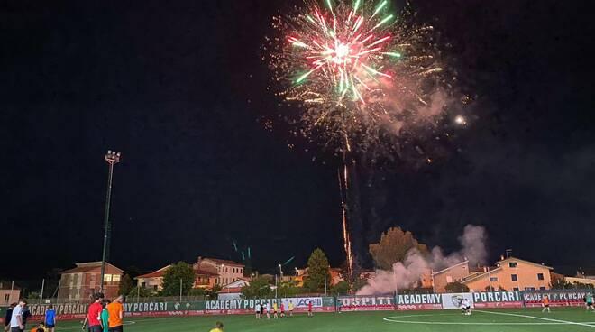 inaugurazione stadio comunale di Porcari