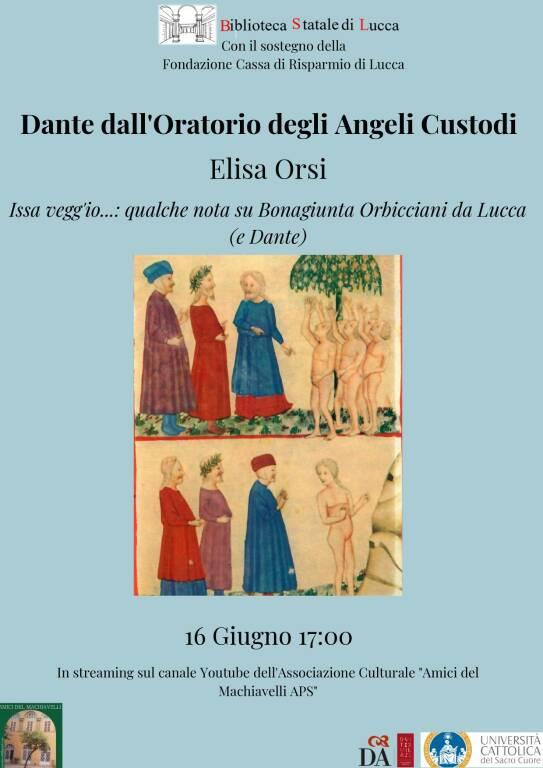 incontro su dante oratorio degli angeli custodi