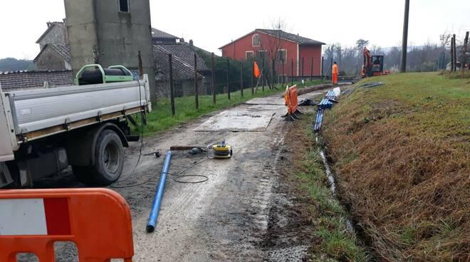 lavori acquedotto lappato