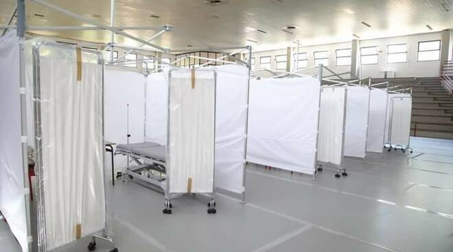 nuovo centro vaccinale al palasport di Chiusi