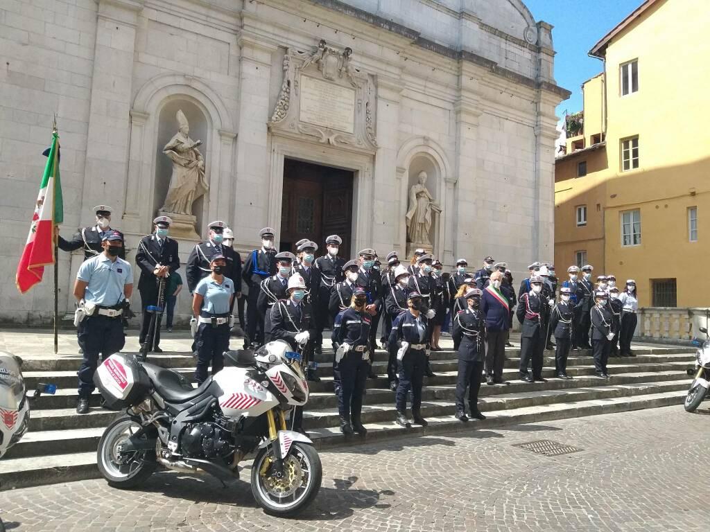 Polizia Municipale festa del corpo chiesa di San Paolino
