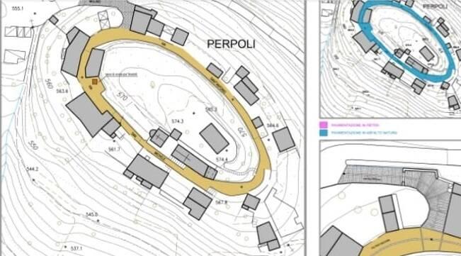 Progetto per il restauro della pavimentazione interna all'anello fortificato di Perpoli