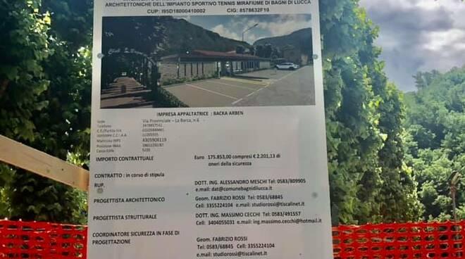 Ripristino e rinnovamento del Tennis Club di Bagni di Lucca