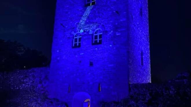 Torre di Castruccio si illumina di azzurro per Di Lorenzo in nazionale