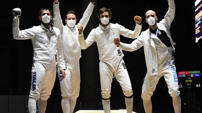 toscani scherma alle olimpiadi di Tokio