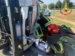 camion ribalato a terranuova bracciolini