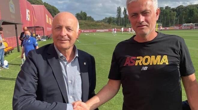 Fabrizio Giovannini e Josè Mourinho