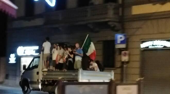 Festeggiamenti Italia campione d'Europa nel comprensorio del Cuoio