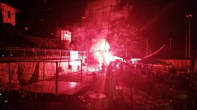 festeggiamenti vittoria Italia a Pontedera