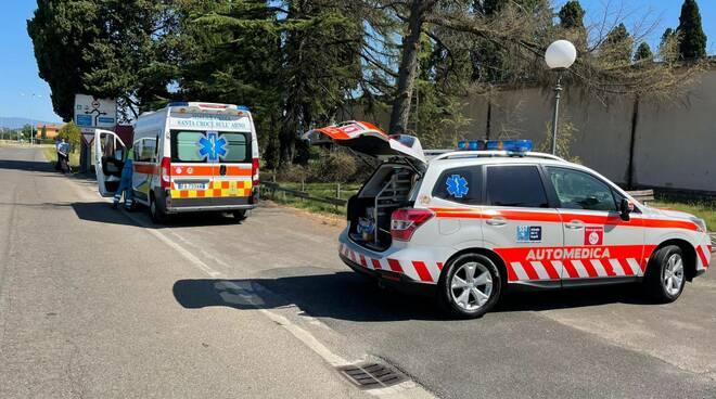 incidente lavoro via del Castellare cimitero Santa Croce sull'Arno