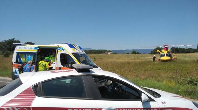 incidente lavoro via del Palazzaccio Altopascio polizia municipale
