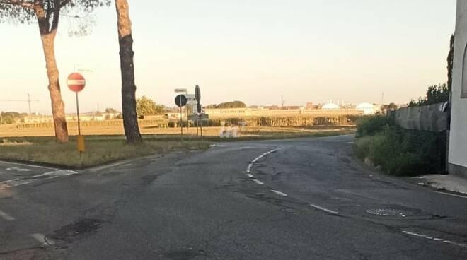 Incrocio via Cerchi via Gambero e via delle Confina
