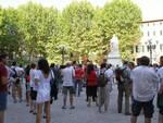 manifestazione contro il green pass a Lucca