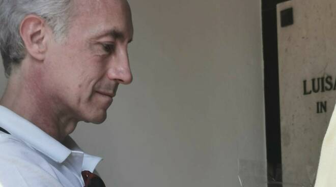 Marco Travaglio e Alessio Spinelli cimitero Indro Montanelli