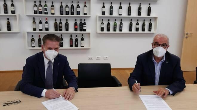 Massimo Cerbai Crédit Agricole con Consorzio vino Brunello Montalcino