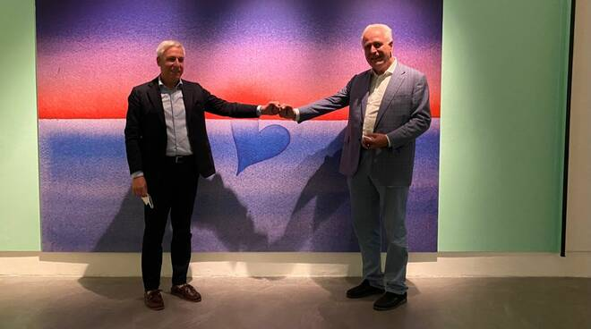 Personale di Jean Michel Folon alla galleria d'arte di Viareggio