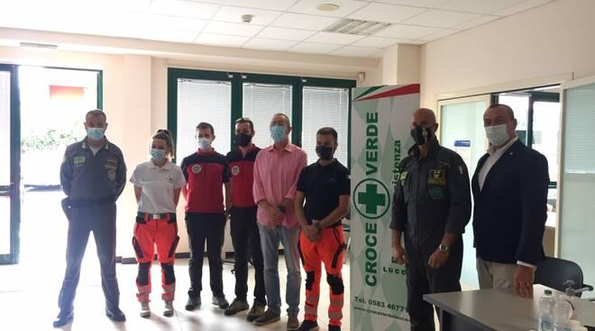 Presentazione esercitazione prociv e croce verde a Ghivizzano