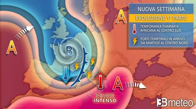previsioni 12-19 luglio Italia 3b meteo
