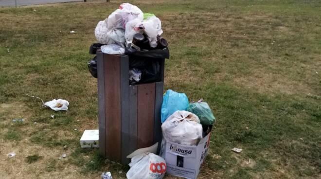 rifiuti a Fucecchio cestini differenziata