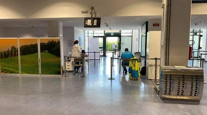 Tamponi Misericordie Pisane in aeroporto