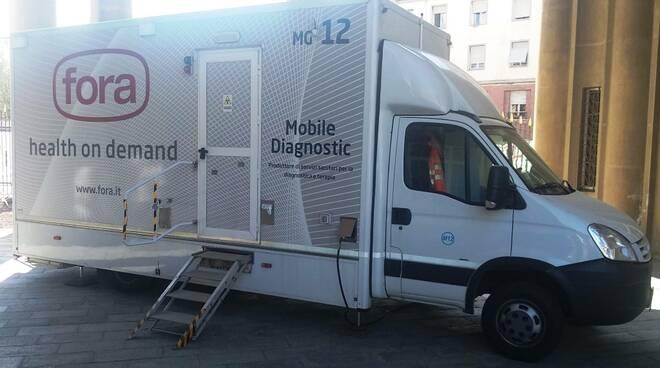 Unità mobile mammografia Lucca