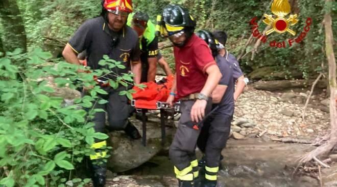 vigili del fujoco e soccorso alpino soccorso a Vicchio