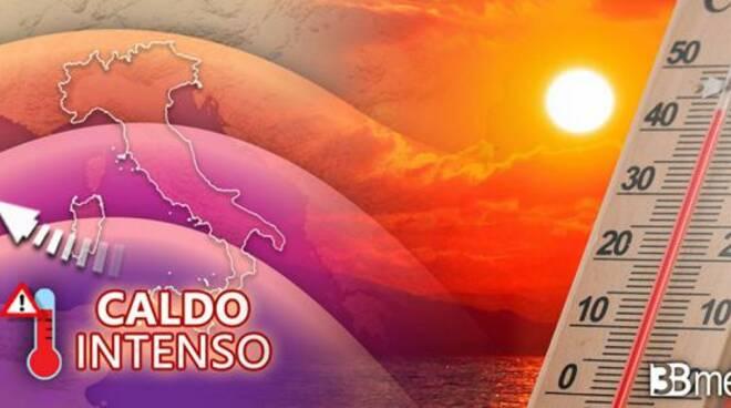 3b meteo picco caldo Toscana