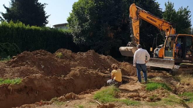 ampliamento scuola Amalia Del Fiorentino scavi Capannori