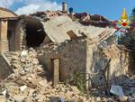 Fabbricato crollato Castelnuovo Val di Cecina