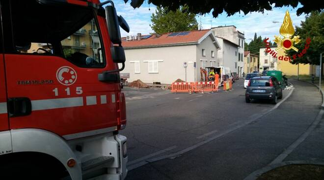 fuga gas metano a Prato