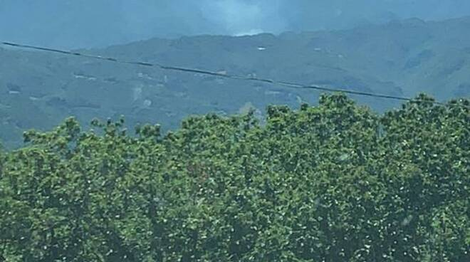 incendio gallicano località rio folle