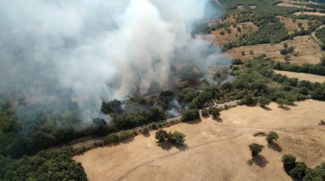 incendio Murci frazione Scansano