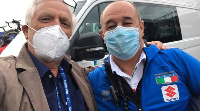 Ivano Fanini con Marco Villa ct nazionale pista