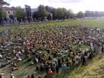 manifestazione ex Balilla green pass 3 agosto 2021