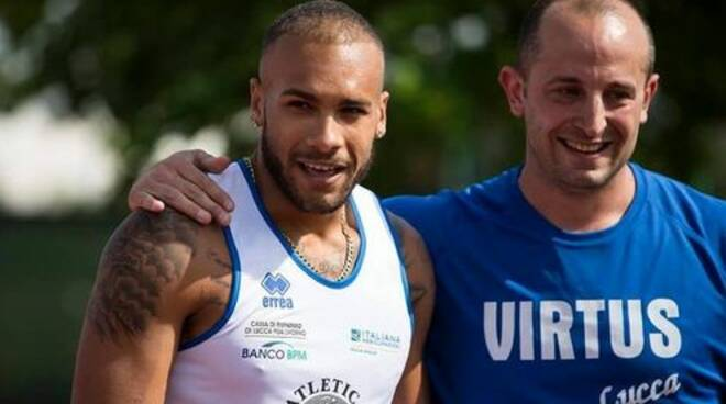 Matteo Martinelli e Marcell Jacobs Virtus Lucca