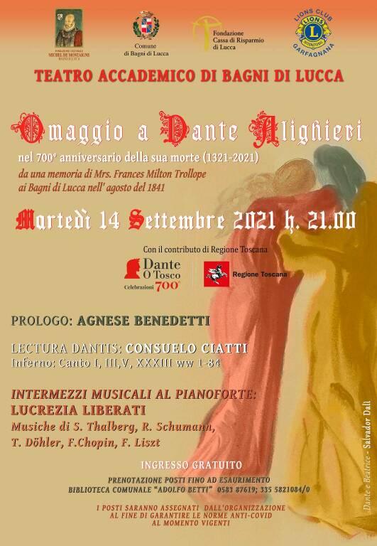 Omaggio Dante a Bagni di Lucca