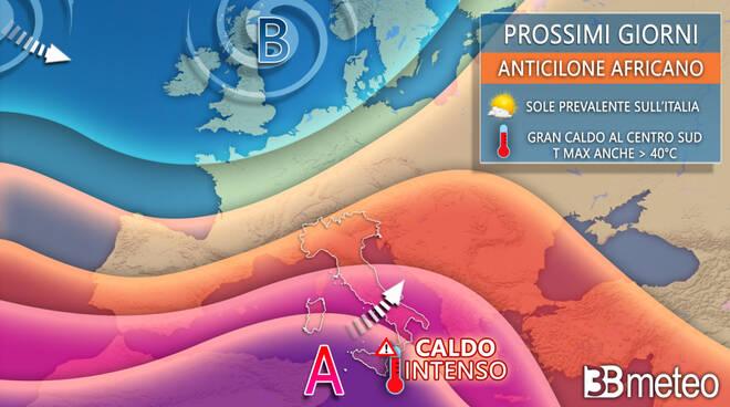 previsioni meteo settimana Ferragosto